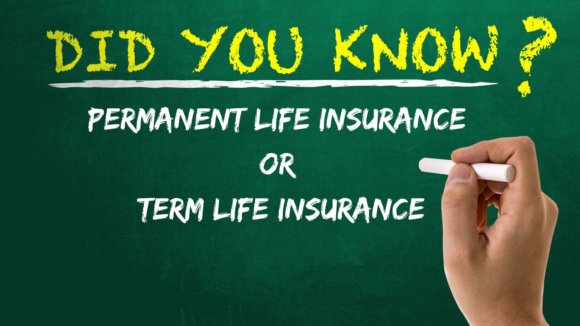 Permanent Life Insurance or Term Life Insurance - Things you need to know